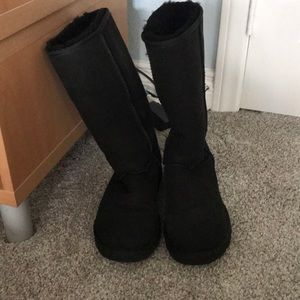 Black high Ugg boots size 8